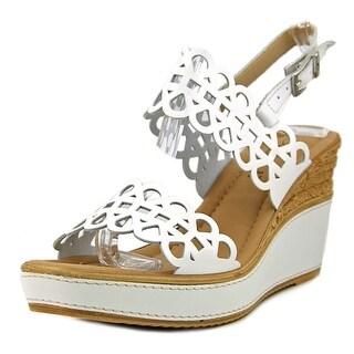 Azura Nicola Women  Open Toe Synthetic White Wedge Heel