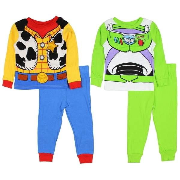 673dcdcc24 Shop Disney Toddler Boys  Toy Story Woody Buzz 4 piece Costume Pajamas Set  - Free Shipping On Orders Over  45 - Overstock - 18067522