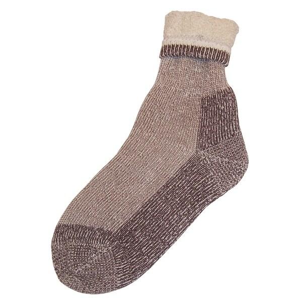 NICE CAPS Mens Wool Blend Bulky And Warm Socks - natural oatmeal