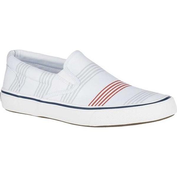 4fc2efb6fb2b Shop Sperry Top-Sider Men s Striper II Slip On Sneaker Stripe Canvas ...