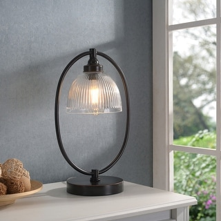 "Link to Diplomat Oil Rubbed Bronze and Glass Banker's Style Lamp - 11"" x 17"" Similar Items in Desk Lamps"