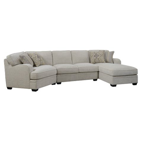 Porch & Den Diana Ivory Tan Chofa Chaise Sectional