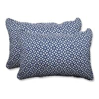 "Set of 2 Sapphire Geo Star Over-sized Rectangular Throw Pillow 24.5"""