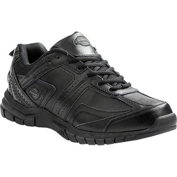 ef39ce36d90056 Shop Dickies Men s Vanquish Slip-Resistant Safety Work Sneaker Black  Leather - On Sale - Free Shipping Today - Overstock - 15798868