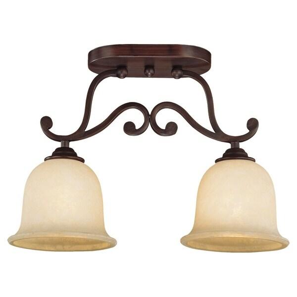 Millennium Lighting 1042 Courtney Lakes 2-Light Semi-Flush Ceiling Fixture - Rubbed bronze