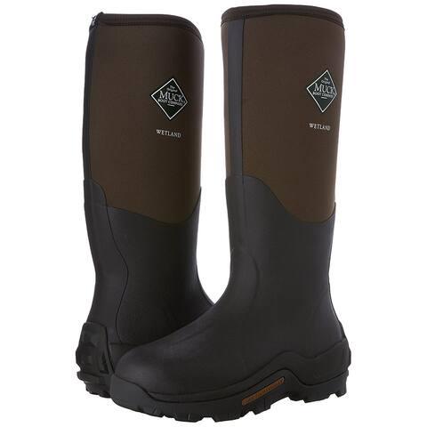 Muck Boot WET998K-7 Wetland Premium Field Boots, Bark, Unisex 7 Men/8 Women