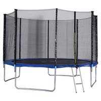 Gymax 12 FT Trampoline Combo Bounce Jump Safety Enclosure Net - as pic