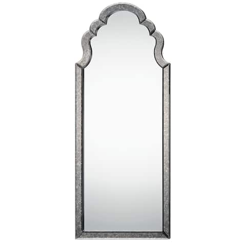 """Uttermost 09037 Lunel 62"""" x 26"""" Rustic Modern Arched Cathedral Style - Antiqued Silver"""