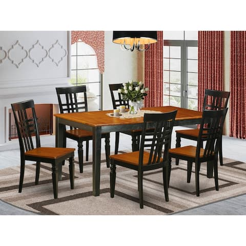 NILG7-W 7 PC kitchen table set with one Nicoli table and 6 dining chairs