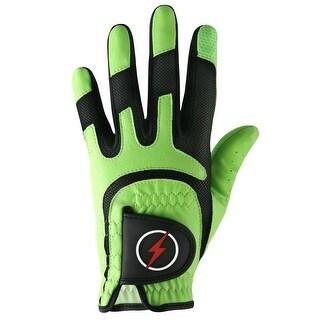 Powerbilt One-Fit Adult Golf Glove - Mens RH Green/Black