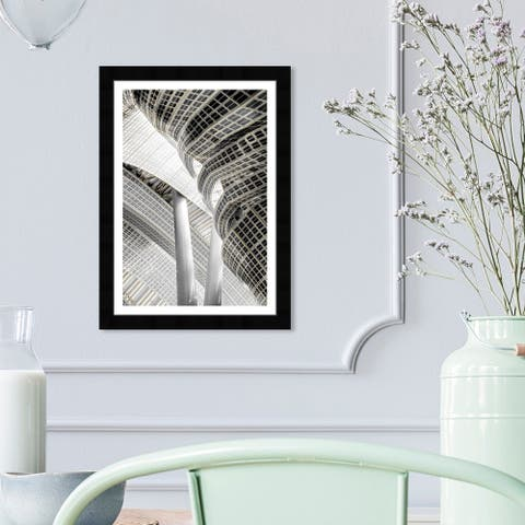 Wynwood Studio 'Architecture I' Architecture and Buildings Wall Art Framed Print Structures - Gray, White