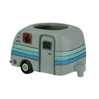 Allen Designs Happy Camper Whimsical Indoor/Outdoor Planter - 5 X 8.5 X 5.25 inches