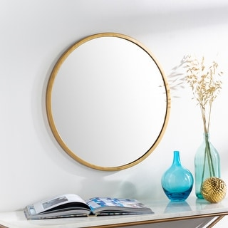 "Link to Clarissa Classic Modern Gold 22-inch Round Mirror - 22""H x 22""W Similar Items in Mirrors"