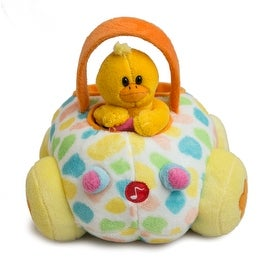 Applause Happy Easter Plush Duck Buggy w/ Sound