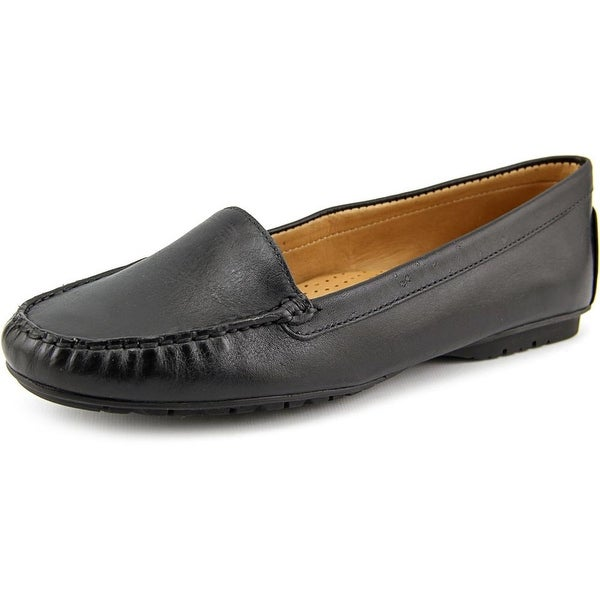 Sebago Meriden Moc Women Moc Toe Leather Black Loafer