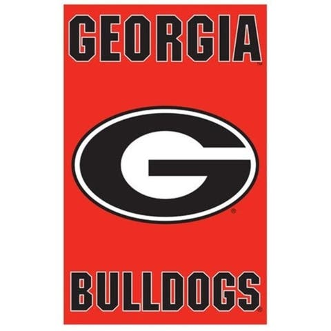 Party Animal AFGA Oversized 44 in. x 28 in. True 2 - Sided House Banner Flag - Georgia