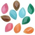 Dyed Candy Jade Gemstone Beads, Faceted Marquise 17-18mm, 10 Pieces, Multi Color - Thumbnail 0