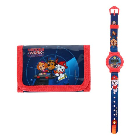 Textiel Trade Kid's Nickelodeon Paw Patrol Wallet and Watch Set
