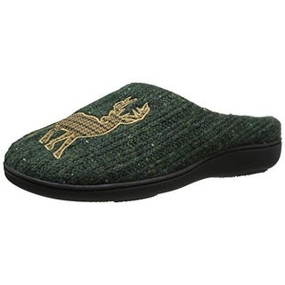 Isotoner Womens Noelle Memory Foam Embroidered Clog Slippers
