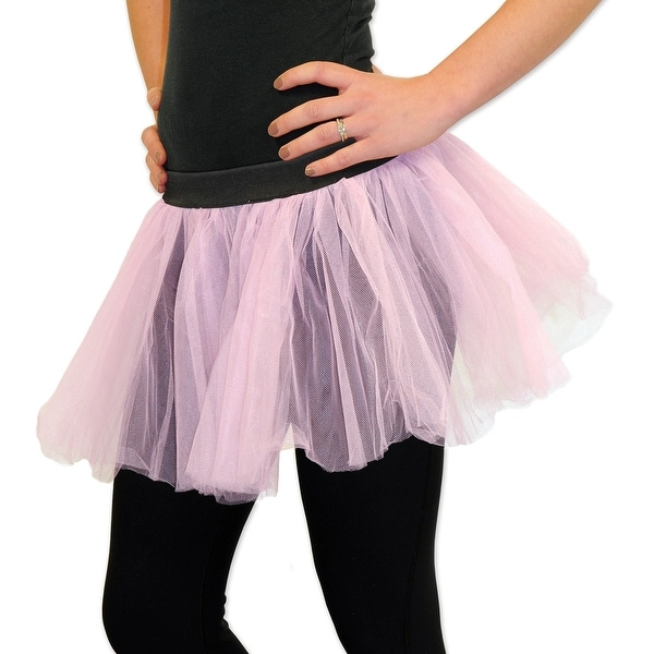 """bd4c9b2f84 Shop Club Pack of 12 Fluffy Baby Pink Ballerina Tutu Skirt 12"""" - One Size - Free  Shipping Today - Overstock - 20764507"""