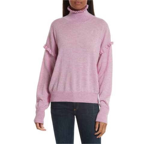 Rebecca Taylor Womens Ls Knit Pullover Sweater