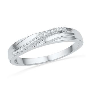 1/20Ctw Diamond Fahsion Band White-Gold 10K