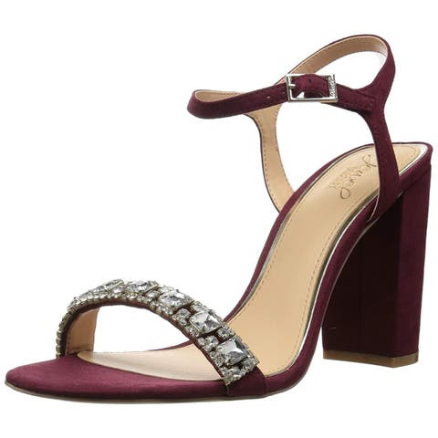 BADGLEY MISCHKA Womens Hendricks Open Toe Bridal Ankle Strap Sandals