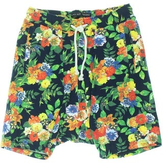 Zara Mens Floral Print French Terry Casual Shorts - M