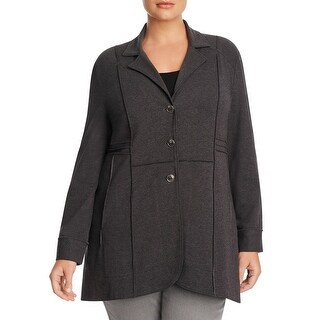 Nic+Zoe Womens Plus Basic Jacket Seamed Button