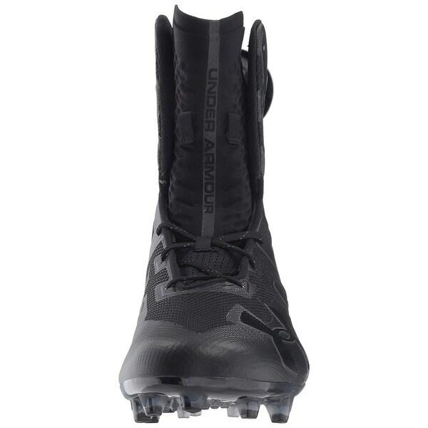 12.5 //Black Black 001 Under Armour Mens Highlight MC Football Shoe