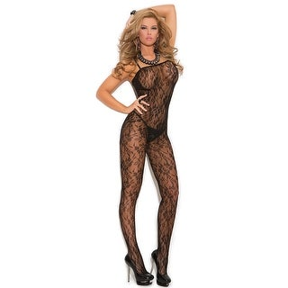 Rose Lace Bodystocking, Rose Lace Open Crotch Bodystocking