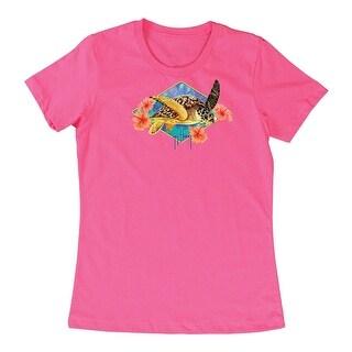 Guy Harvey Womens Turtle Time Short Sleeve Shirt