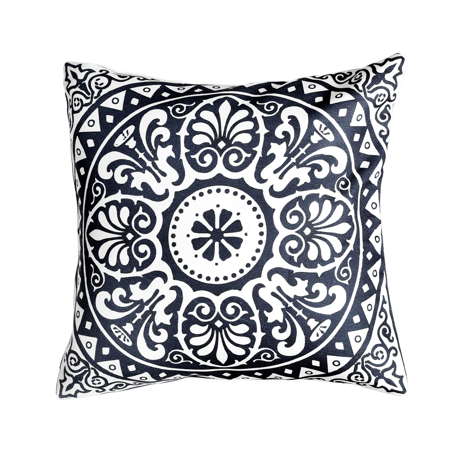 Spanish Tile Indoor Outdoor Decorative Pillow Navy Blue 20 X 20 Overstock 31312902