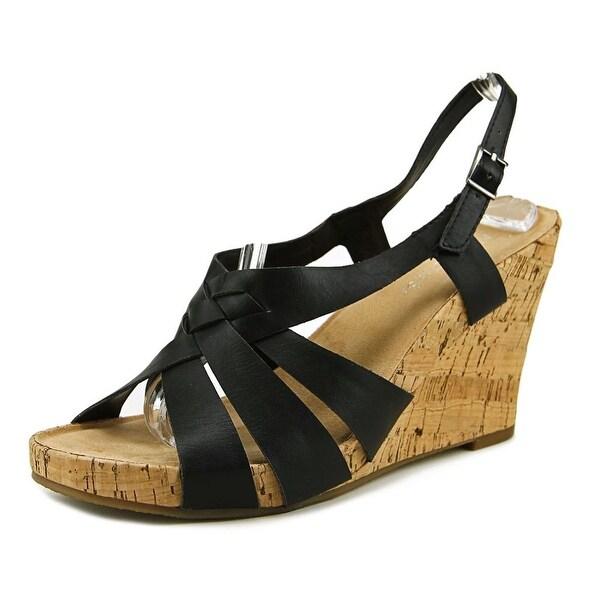 Aerosoles Guava Plush Women Black Tan Combo Sandals