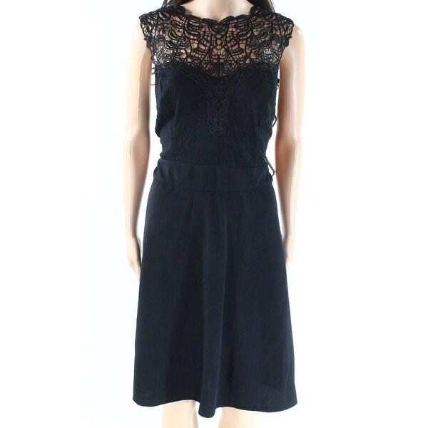 Love Squared Womens Plus Lace Bodice A-Line Dress