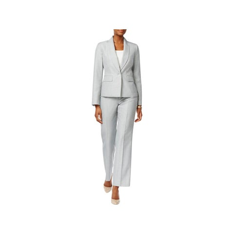 Le Suit Womens British Isles Pant Suit 2PC Shawl Collar