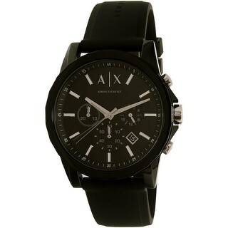 Armani Exchange Men's AX1326 Black Silicone Japanese Quartz Dress Watch