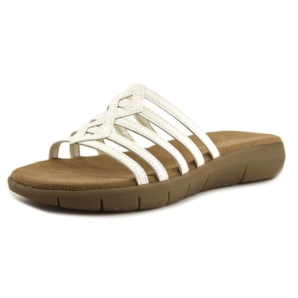 Aerosoles Summer Wip Women White Snake Sandals