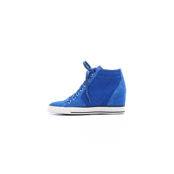 5717e4725b01 Shop DKNY Women s Cindy Perf Wedge Sneakers - Ships To Canada ...