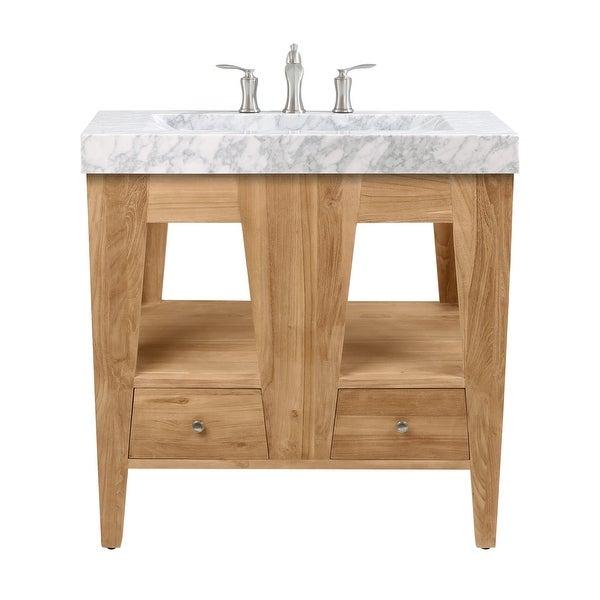 "Avanity JAMESTON-VS33 Jameston 33"" Free Standing Single Vanity Set with Wood Cabinet and Marble Vanity Top with Integrated Sink"