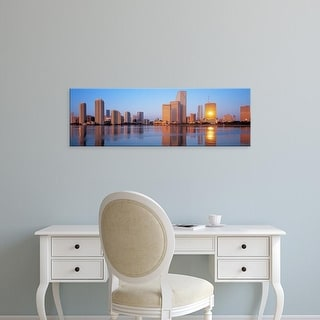 Easy Art Prints Panoramic Images's 'Sunrise, Miami, Florida, USA' Premium Canvas Art