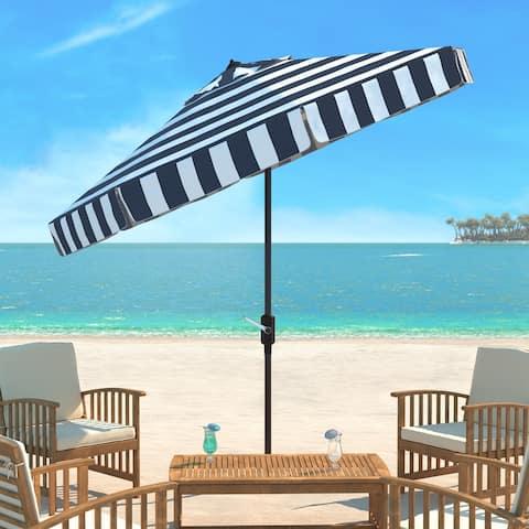 SAFAVIEH Outdoor Living Elsa Fashion Line 11Ft Round Umbrella