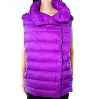 Lauren By Ralph Lauren NEW Purple Women Size XL Funnel Neck Puffer Vest