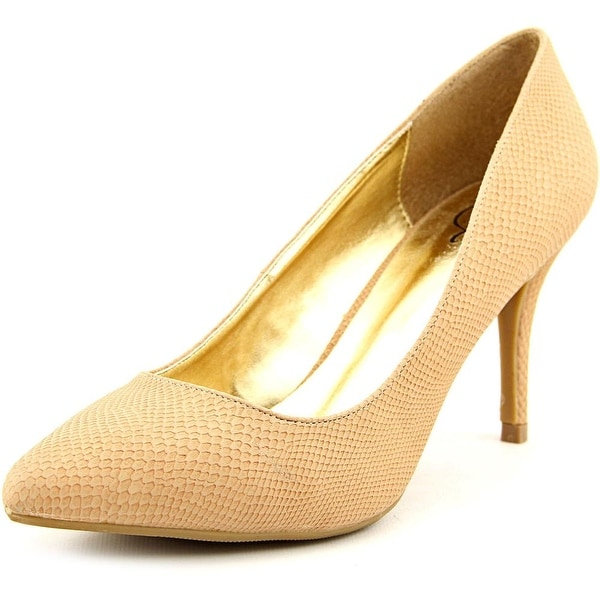 143 Girl Owanda Women  Pointed Toe Synthetic Nude Heels