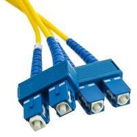 Fiber Optic Cable, SC / SC, Singlemode, Duplex, 9/125, 2 meter (6.6 foot)