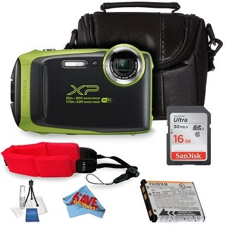 FujifilmFinePix XP130 Digital Camera + SanDisk 16GB Ultra UHS-I SDHC Class 10 Bundle(International Model)