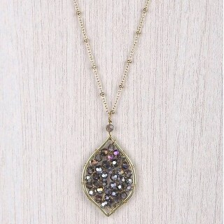 Mad Style Olivia Smoky/Gold Leaf Necklace