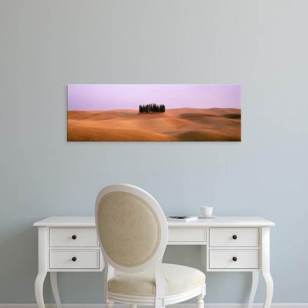 Easy Art Prints Panoramic Images's 'Trees on a rolling landscape, Tuscany, Italy' Premium Canvas Art