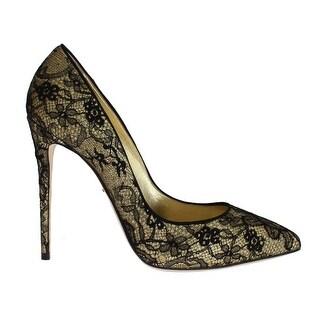 Dolce & Gabbana Yellow Black Lace Stiletto Heels Shoes - 39.5