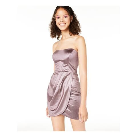 TEEZE ME Purple Sleeveless Mini Dress 0